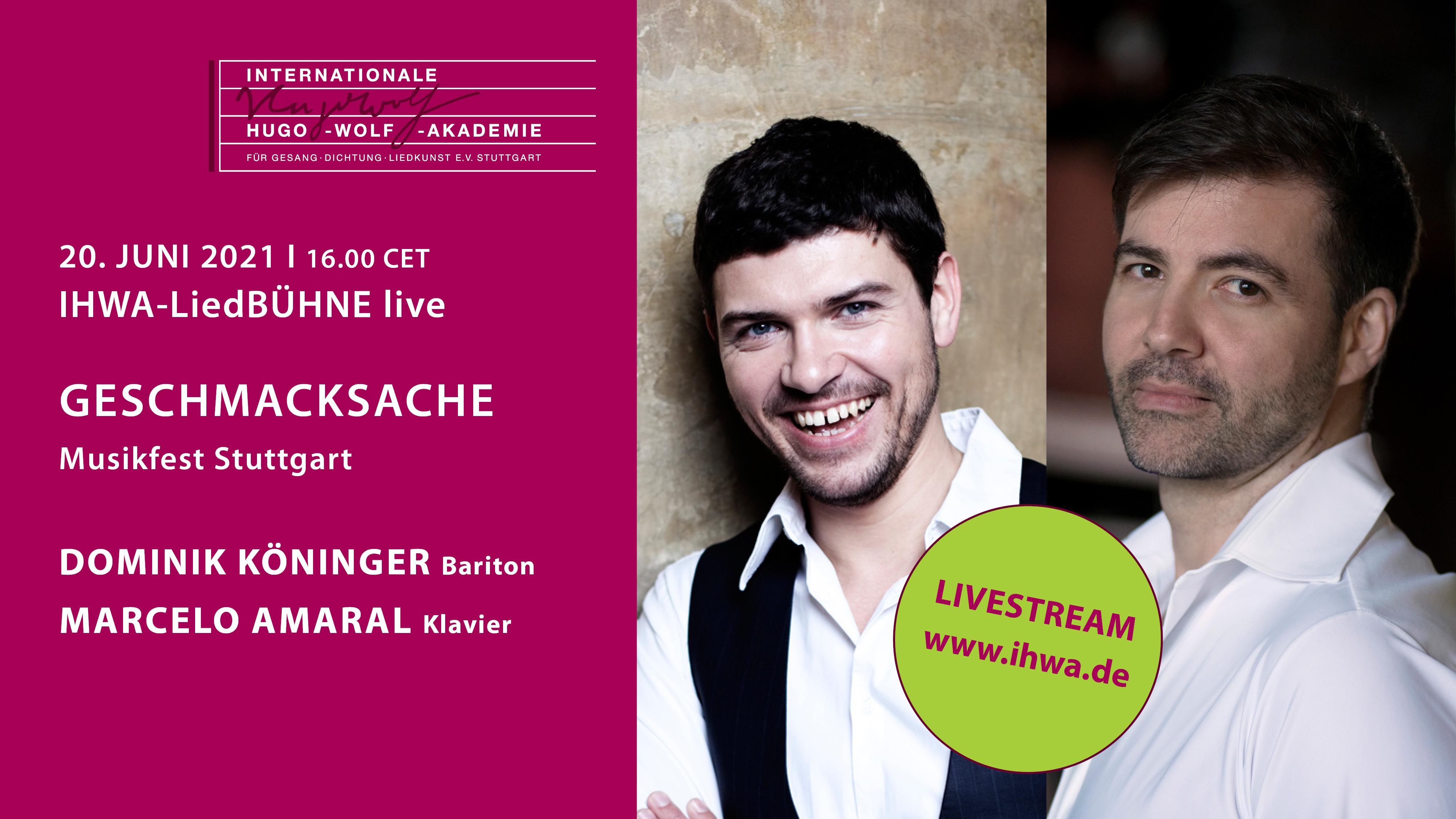 LiedBÜHNE live: Geschmacksache